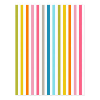 Calm Rainbow Stripes Pattern Postcard