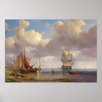 Calm Sea, 1836 Poster