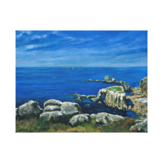 Calm sea Lands End Cornwall Canvas Print