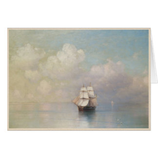 Calm Seas Ivan Aivazovsky seascape waterscape sea Card