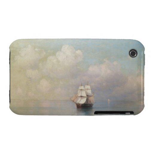 Calm Seas Ivan Aivazovsky seascape waterscape sea iPhone 3 Case
