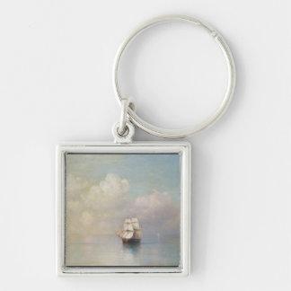 Calm Seas Ivan Aivazovsky seascape waterscape sea Keychain