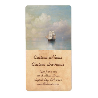 Calm Seas Ivan Aivazovsky seascape waterscape sea Shipping Label