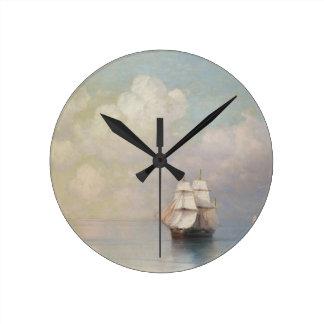 Calm Seas Ivan Aivazovsky seascape waterscape sea Round Clock