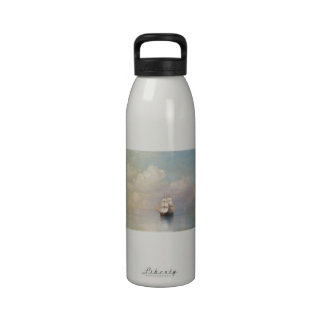 Calm Seas Ivan Aivazovsky seascape waterscape sea Reusable Water Bottles