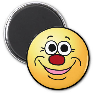 Calm Smiley Face Grumpey Magnet