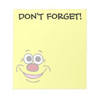 Calm Smiley Face Grumpey Notepad
