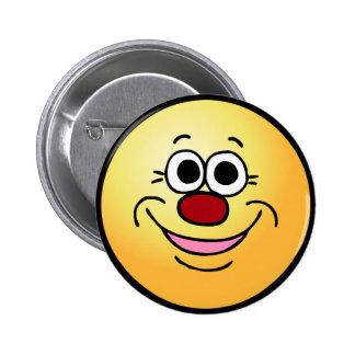 Calm Smiley Face Grumpey Pinback Button