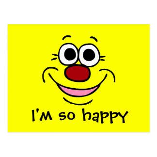 Calm Smiley Face Grumpey Postcard