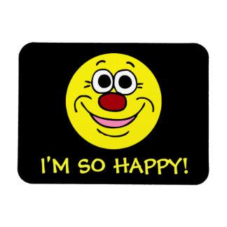 Calm Smiley Face Grumpey Rectangle Magnets