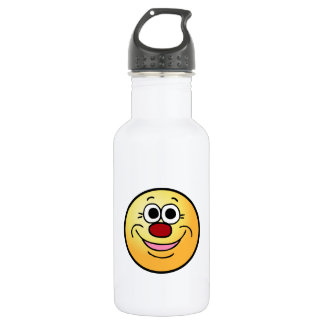 Calm Smiley Face Grumpey Stainless Steel Water Bottle