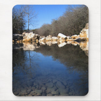 Calm Twin Falls on Barton Creek 2 - Austin Texas Mouse Pad