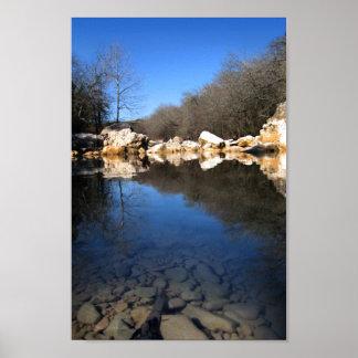Calm Twin Falls on Barton Creek 2 - Austin Texas Posters