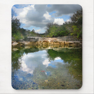 Calm Twin Falls on Barton Creek - Austin Texas Mouse Pad