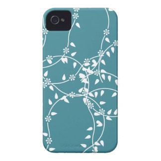 Calma azul de la flor carcasa para iPhone 4 de Case-Mate
