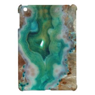 Calmar la piedra mineral cristalina verde y blanca