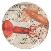 Calmari Vintage Design Dinner Plate