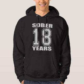 Calme 18 años de blanco en oscuridad sudadera