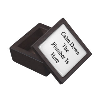 Calme abajo al fontanero está aquí cajas de recuerdo de calidad