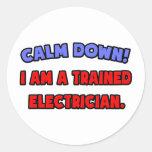 Calme abajo. Soy electricista entrenado Pegatinas