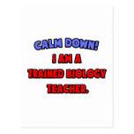 Calme abajo. Soy profesor de biología entrenado Tarjeta Postal