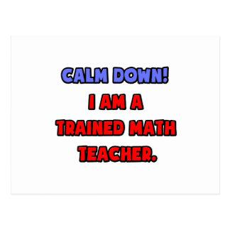 Calme abajo. Soy profesor de matemáticas entrenado Tarjetas Postales