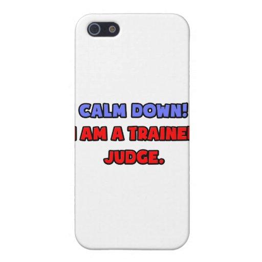 Calme abajo. Soy un juez entrenado iPhone 5 Fundas
