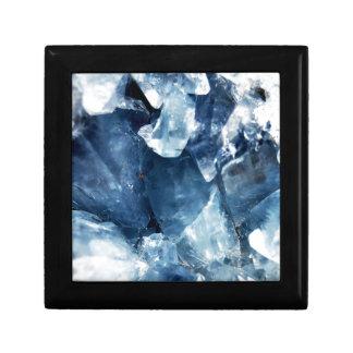 Calming Blue Mineral Crystal Stone Keepsake Box