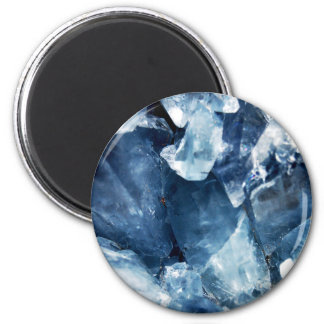Calming Blue Mineral Crystal Stone Magnet