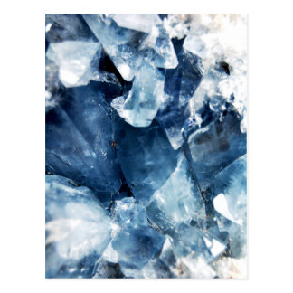 Calming Blue Mineral Crystal Stone Postcard