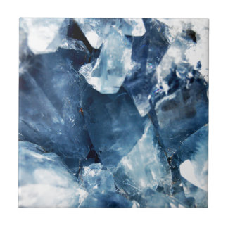 Calming Blue Mineral Crystal Stone Tile