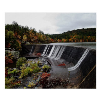 Calming Fall Scene with Water Feature Posters