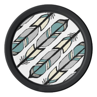 Calming Feathers Poker Chips