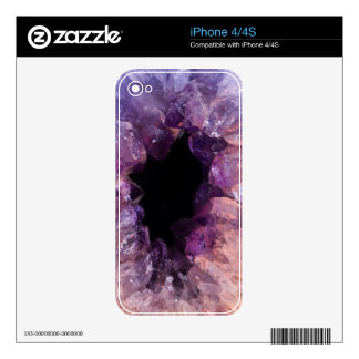 Calming Pink Purple Crystal Mineral Stone iPhone 4 Decals