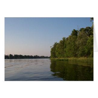 Calming River Greeting Card