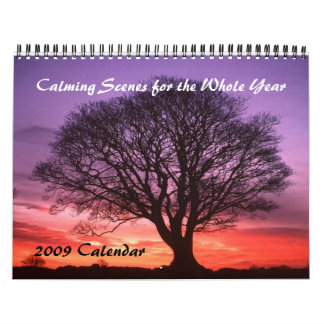Calming Scenes for the Whole Year - Customized Calendar