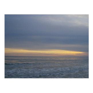 Calming Seashore Sunset Postcard