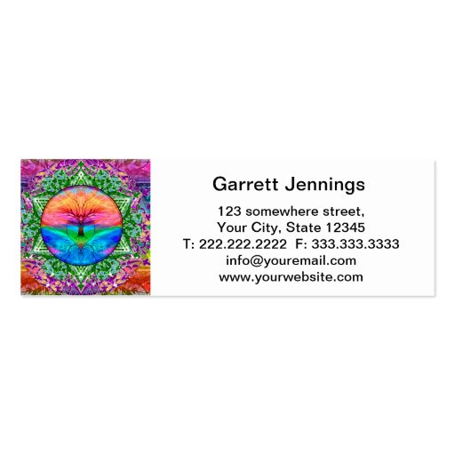 Calming Tree of Life in Rainbow Colors Business Card