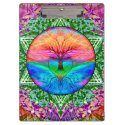 Calming Tree of Life in Rainbow Colors Clipboard (<em>$34.80</em>)