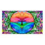Calming Tree of Life in Rainbow Colors Double-Sided Standard Business Cards (Pack Of 100)