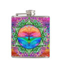 Calming Tree of Life in Rainbow Colors Flask (<em>$26.35</em>)
