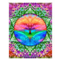 Calming Tree of Life in Rainbow Colors Flyer (<em>$0.90</em>)
