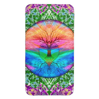 Calming Tree of Life in Rainbow Colors Galaxy S4 Pouch