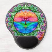 Calming Tree of Life in Rainbow Colors Gel Mouse Pad (<em>$13.70</em>)
