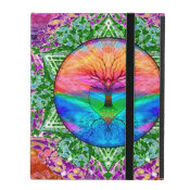 Calming Tree of Life in Rainbow Colors iPad Folio Case (<em>$42.20</em>)
