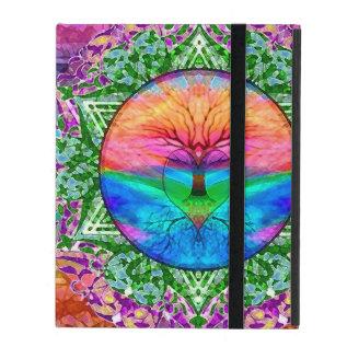 Calming Tree Of Life In Rainbow Colors Ipad Folio Case at Zazzle