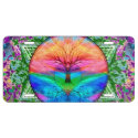 Calming Tree of Life in Rainbow Colors License Plate (<em>$26.35</em>)