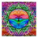 Calming Tree of Life in Rainbow Colors Poster (<em>$18.75</em>)