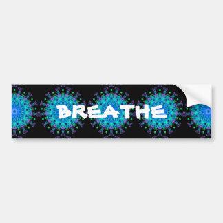 Calming Water Mandala Design Bumper Sticker