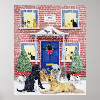 Calor del navidad póster